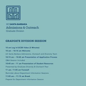 Graduate Division Session beginning at 10 AM