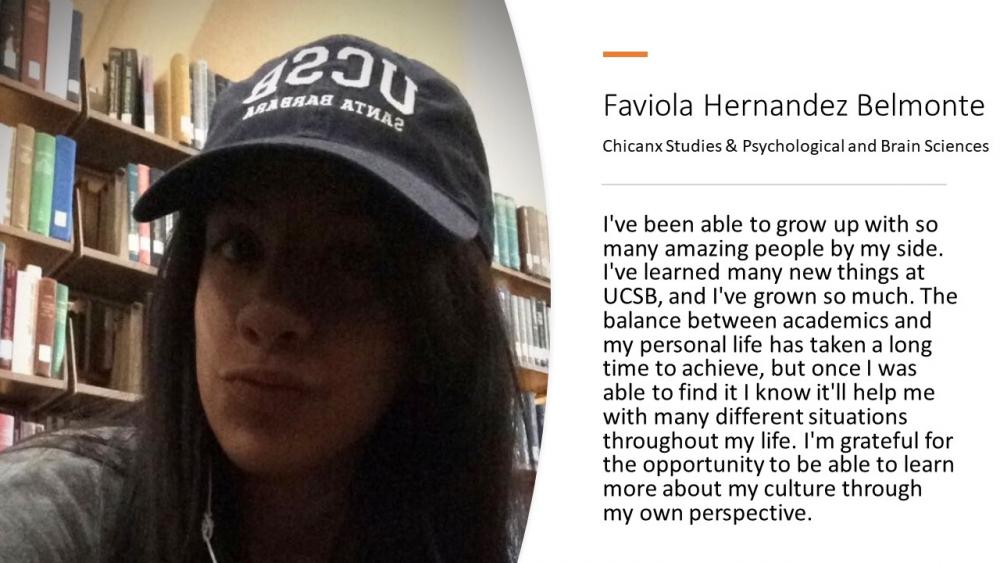 Faviola Hernandez Belmonte, Chicanx Studies & Psychological and Brain Sciences
