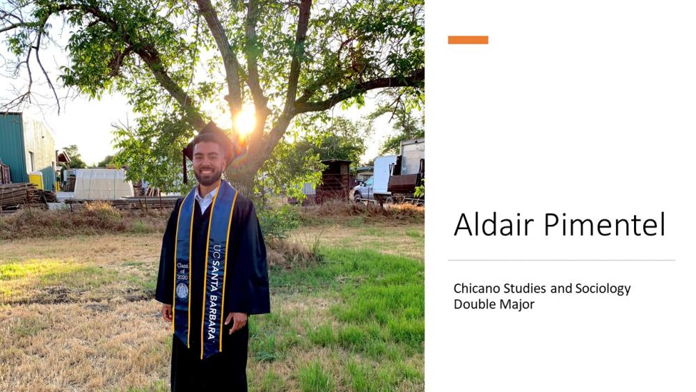 Aldair Pimentel, Chicano Studies and Sociology Double Major