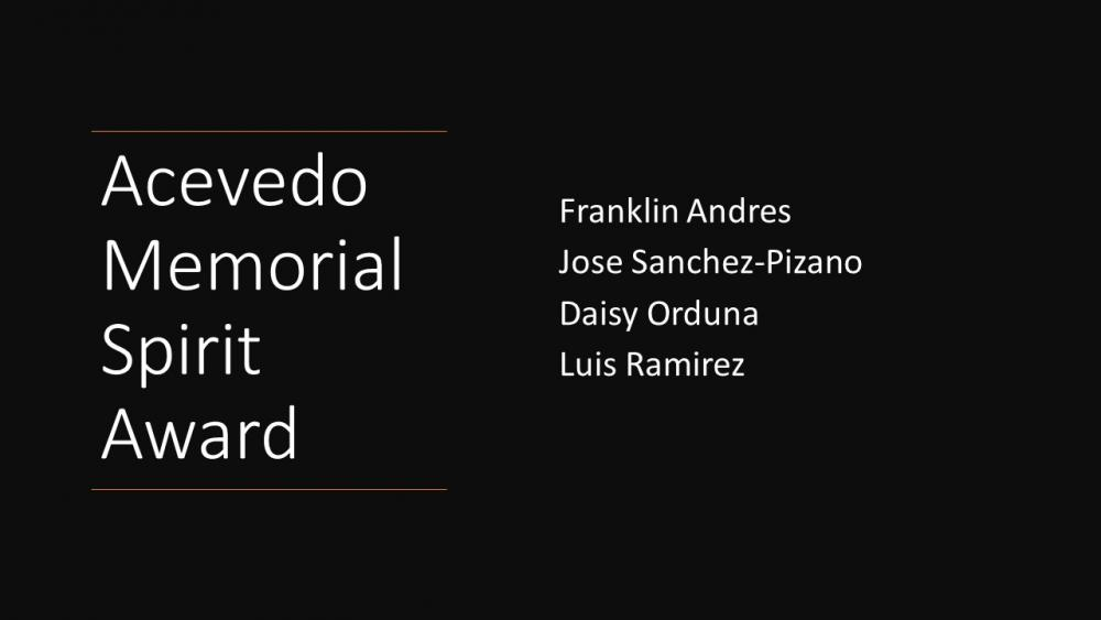 Acevedo Memorial Spirit Award