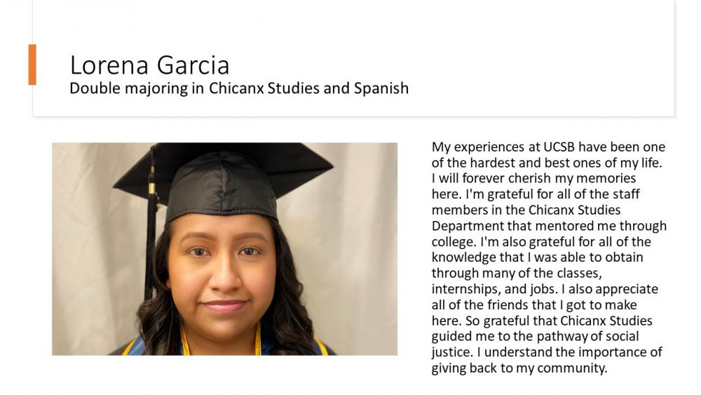 Lorena Garcia, Double Majoring in Chicanx Studies and Spanish