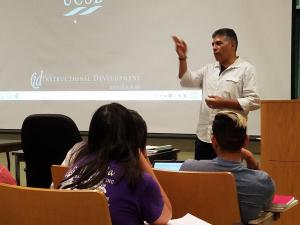 UCSB alumnus Congressman Tony Cardenas presenting to CHST 181