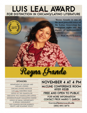 Flyer - Luis Leal Award for Distinction in Chicano/Latino Literature